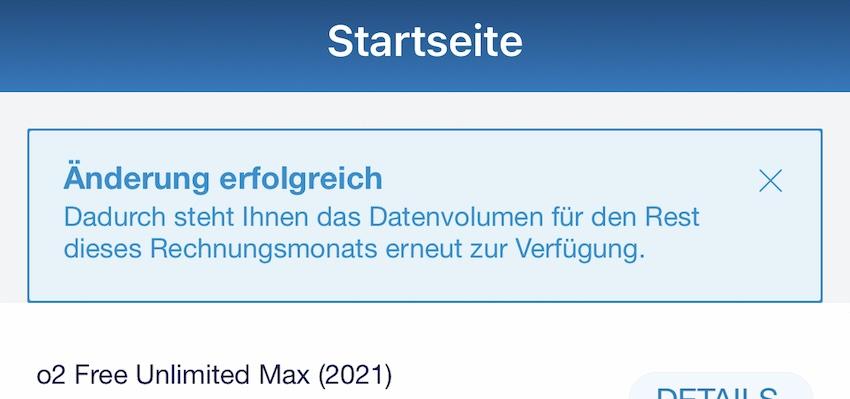 500-MBit/s-Tarif bei o2 (Screenshot: SmartPhoneFan.de)