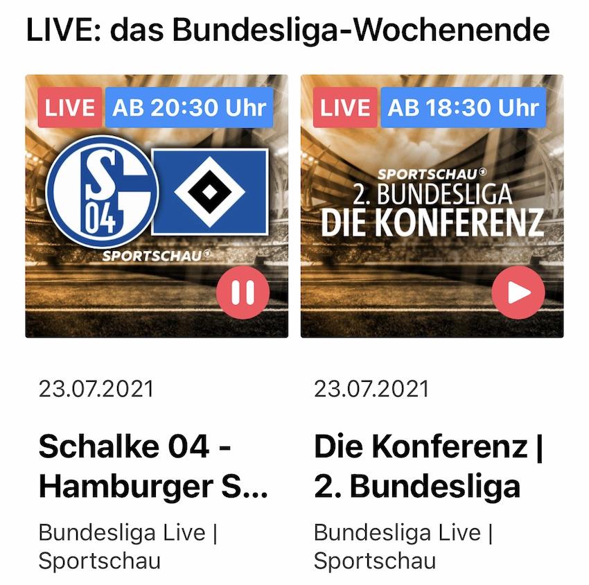 ARD bringt Audio-Streams für die Fußball-Bundesliga (Screenshot: SmartPhoneFan.de)