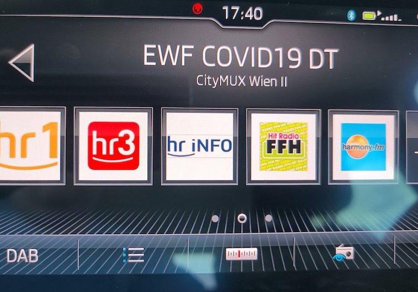 EWF-Warnkanal im Wiener DAB+-Multiplex (Foto: SmartPhoneFan.de)