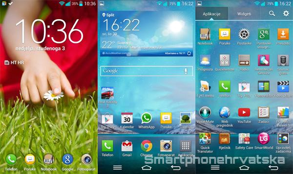 LG G2 recenzija softver