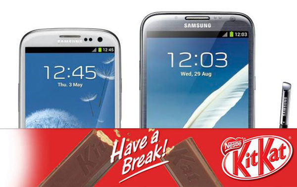 Samsung kitKat lista