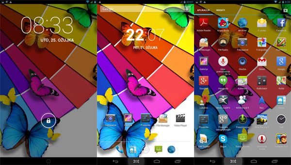My Tab M71B-3G recenzija softver