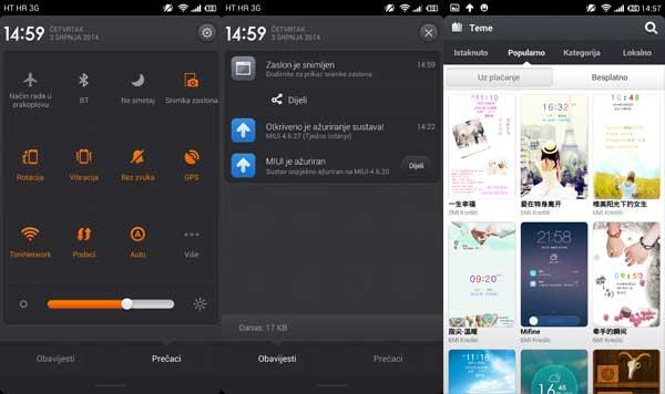 xiaomi mi3 recenzija softver