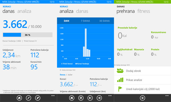 Lumia 830 Zdravlje i Fitness