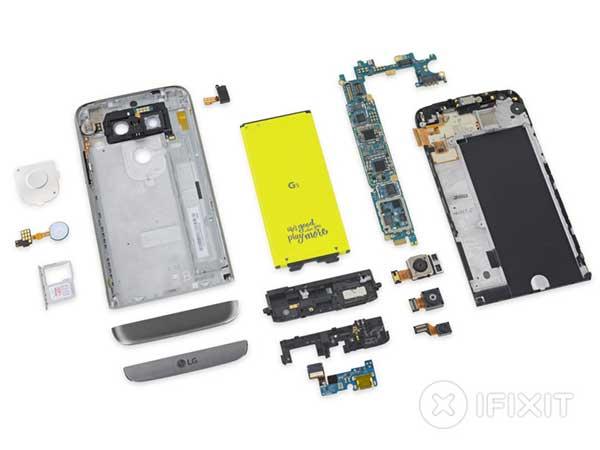 LG G5 najlakše popraviti - iFixit lista popravljivosti smartphonea 2016.