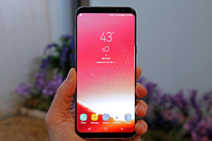 Galaxy S8 red tint