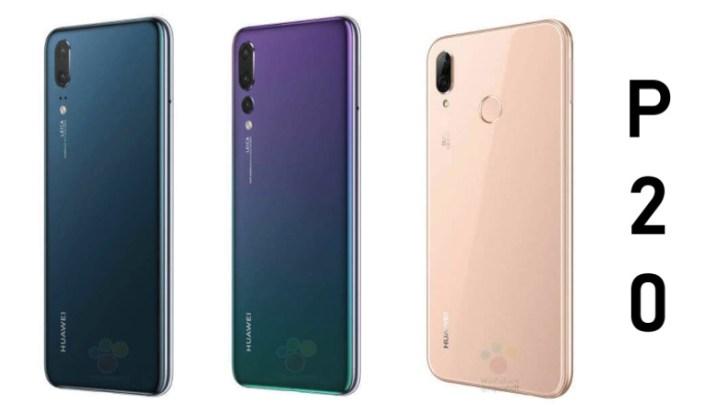 Huawei P20 trojac na novim renderima u svim bojama i s detaljnim specifikacijama