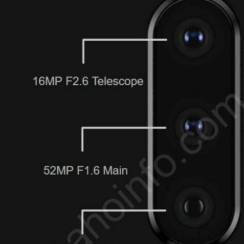 Jedna od tri kamere Xperie XZ4 će biti 52MP f/1.6