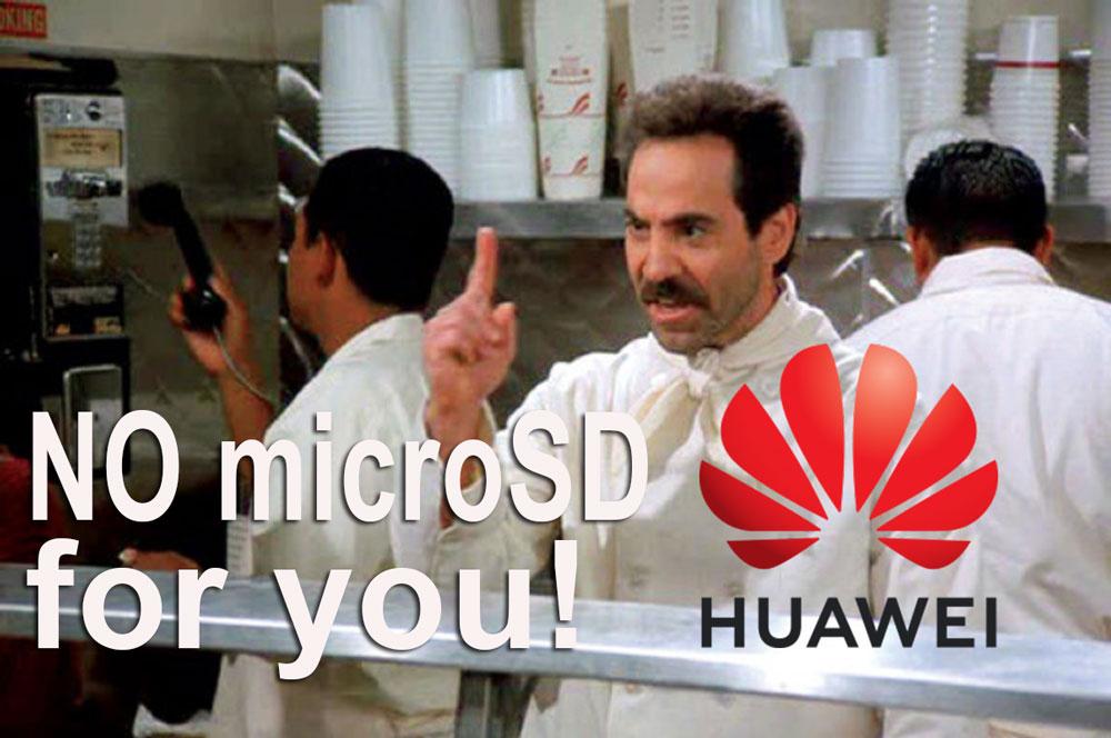 Još nevolja: Huawei više neće moći koristiti microSD kartice u svojim telefonima!