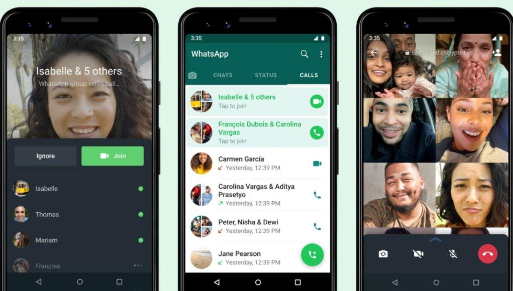 Whatsapp grupni video pozivi