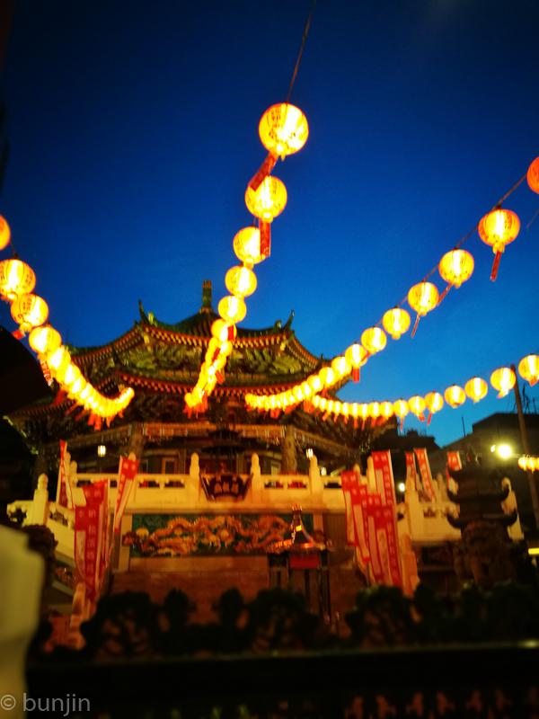 夜の横浜媽祖廟
