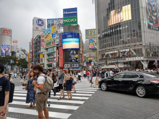 The scrambled intersection in SHIBUYA