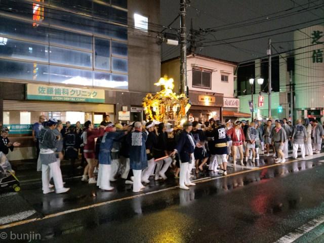 Mikoshi in the rain