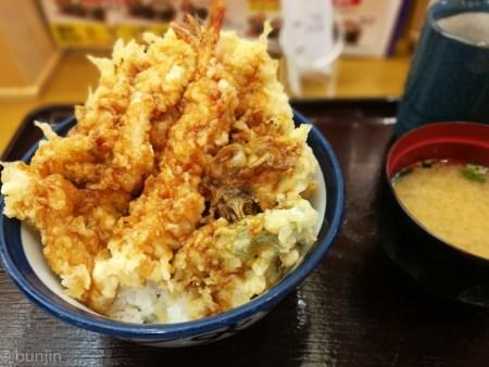 松茸・牡蛎天丼