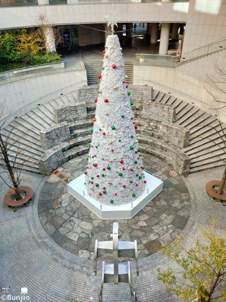 Christmas tree and a robot