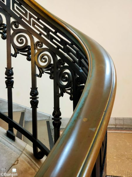Railing on the stairs