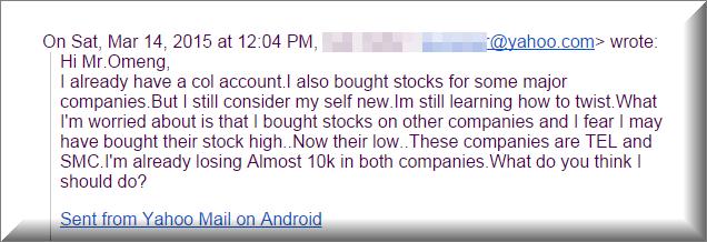 Losing 10k Value
