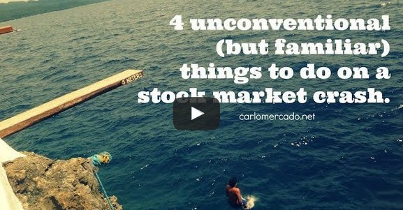 4 Unconventional (but Familiar) Things to do on a Stock Market Crash