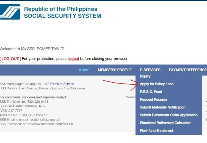 SSS Apply for Salary Loan Philippines