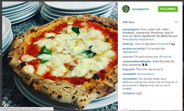 Great pizza on instagram
