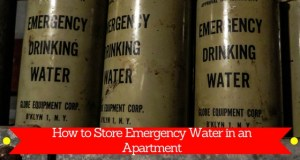 How to Store Emergency Water Supply in an Apartment