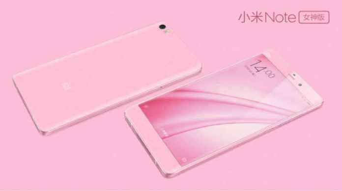 xiaomi mi note pink release date