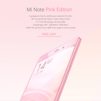 xiaomi mi note pink edition review