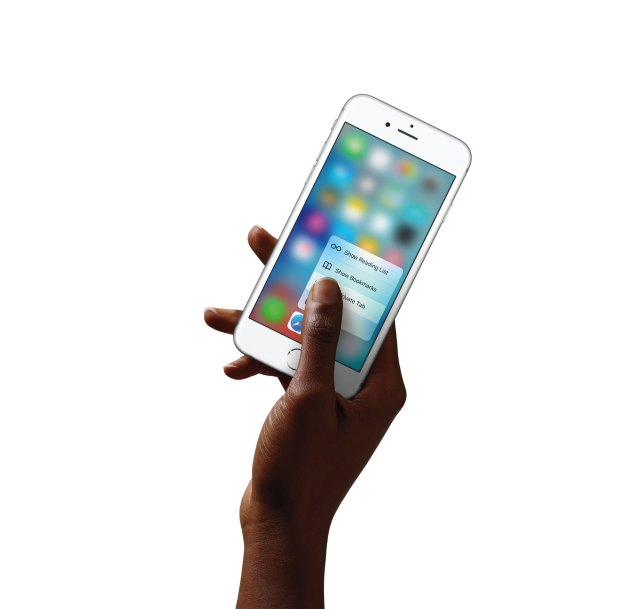 Apple's latest 3D Touch on iPhone 6S Plus