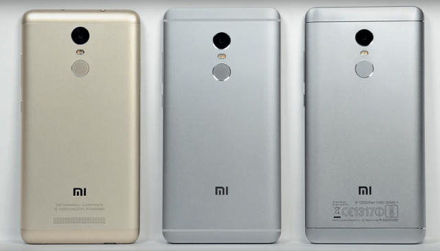 Redmi Note 4 comparison