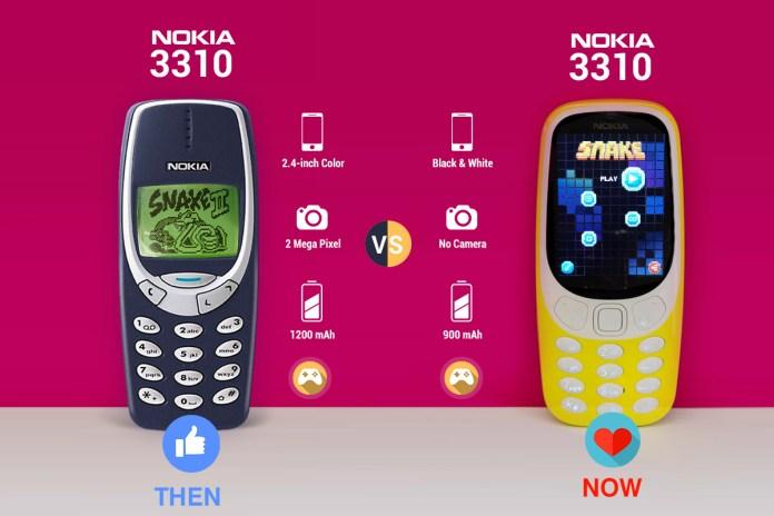 Nokia 3310 Old Vs. Nokia 3110 New