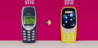 Nokia 3310 New Vs. Nokia 3310 Old