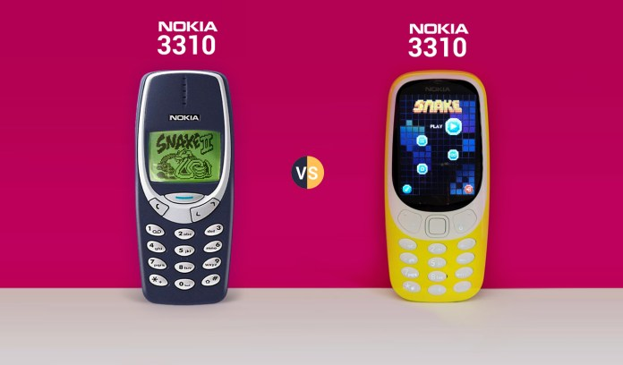 Nokia 3310 New Vs. Nokia 3310 Old