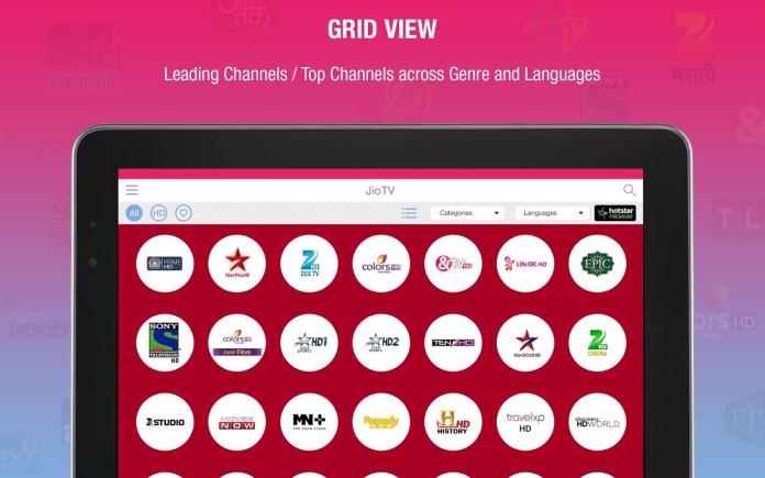 Reliance Jio TV App