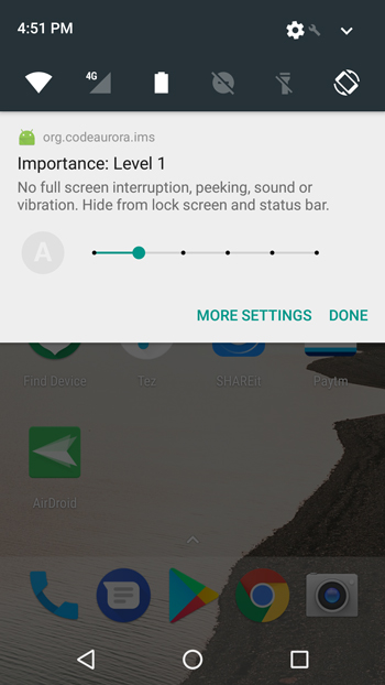 How to remove 'Device is HD Capable' Notification from