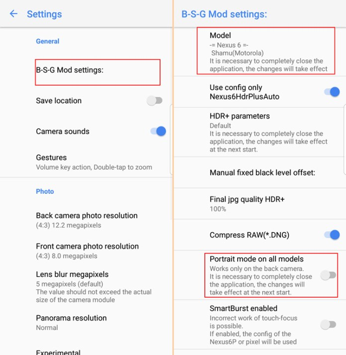 How to get portrait mode for Samsung Galaxy S9 and Galaxy S8 rear