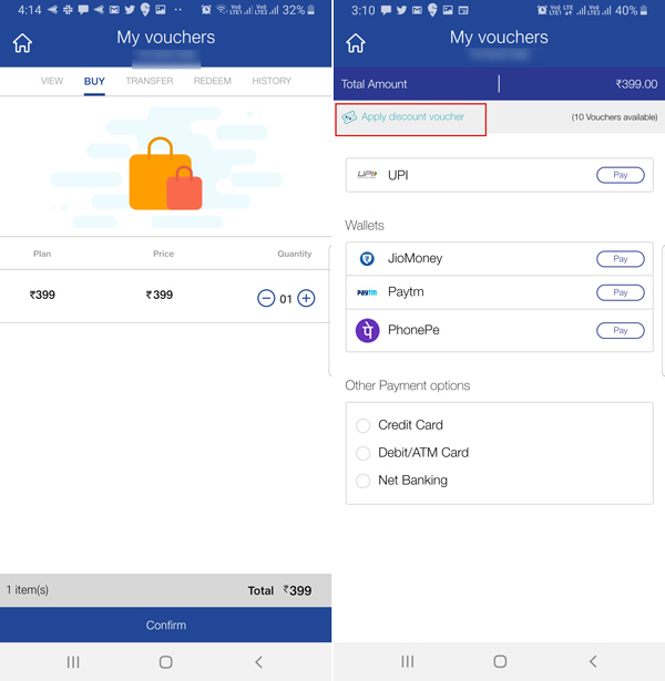 How to recharge another jio number from My Jio app using