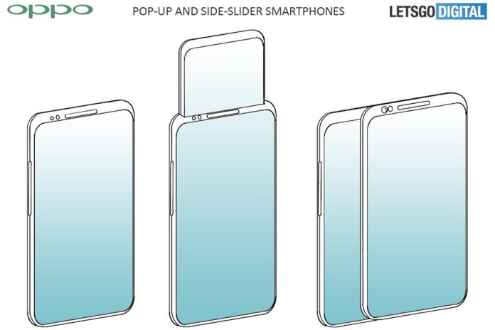 Oppo pop-up-display-and-side-sliding-screen phones