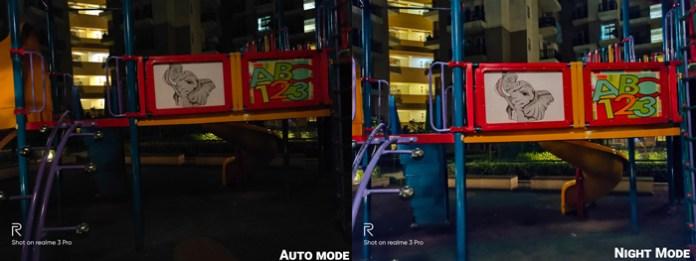 Realme 3 Pro camera review auto mode vs night mode