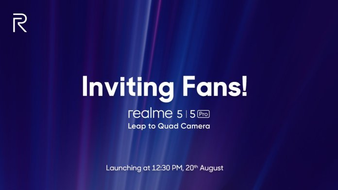 Realme 5 on August 20