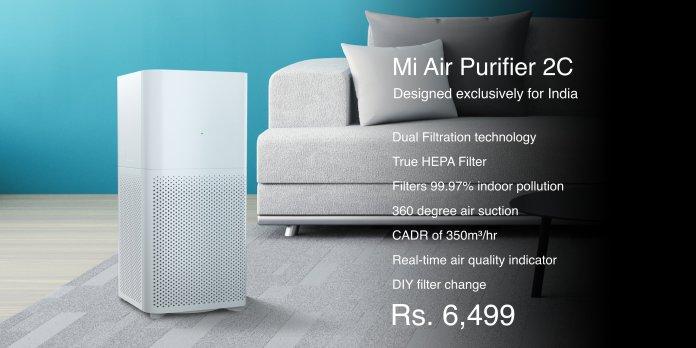 Mi Air Purifier 2C features