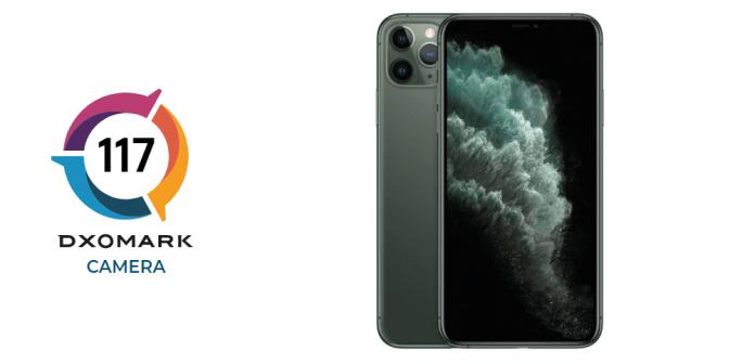 DxOMark score of Apple iPhone 11 Pro Max camera is 117