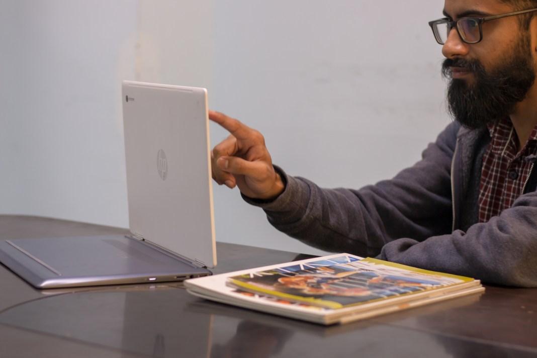 Lazımi və mənfi cəhətləri olan HP Chromebook x360 baxış (14-da0003tu) 5