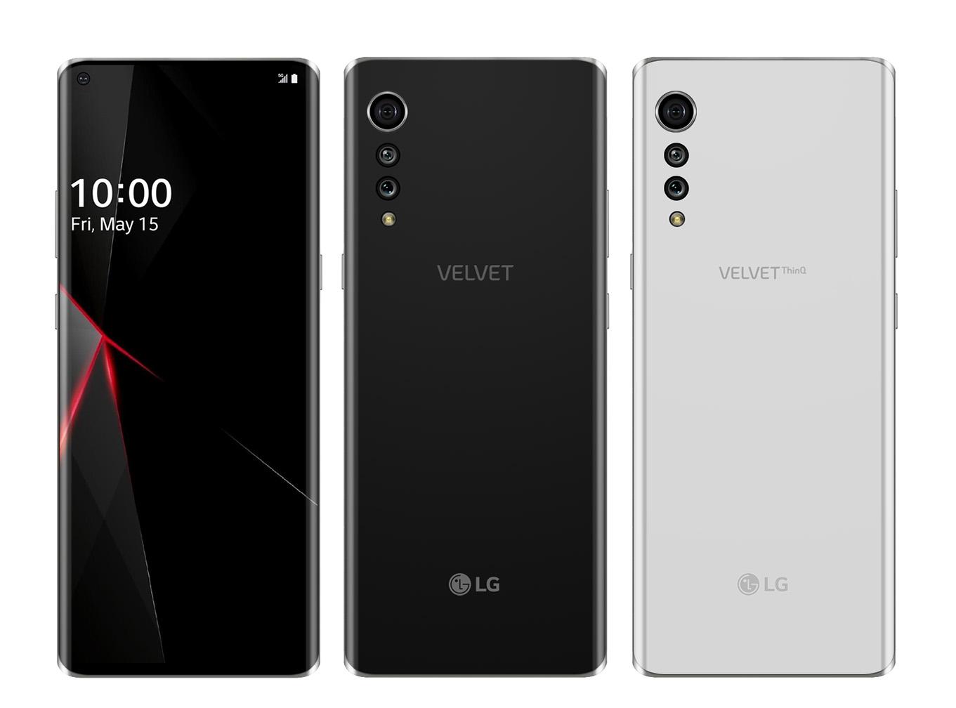 LG Velvet render