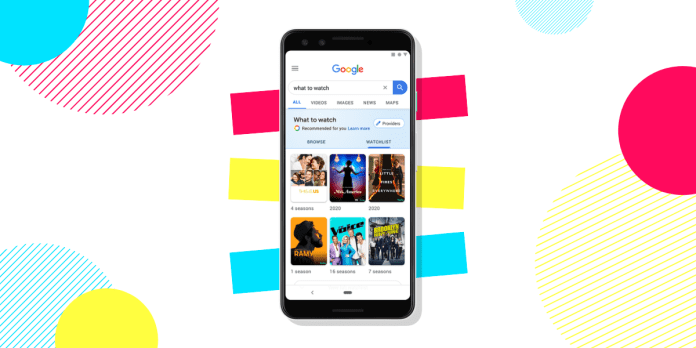 How to create movie/show watchlist on Google Search