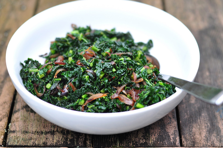 Nightshade Free Kale with Caramelized Onions Recipe
