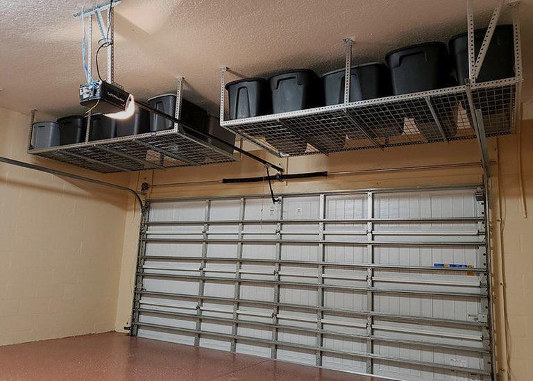 garage storage system solution in