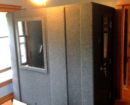 home made studio booth