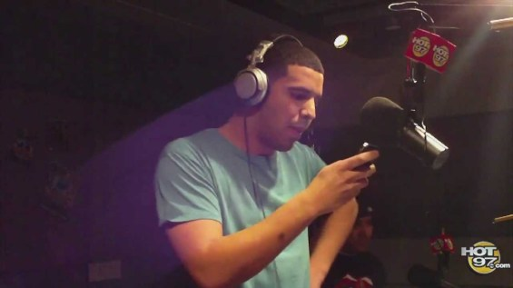 Drake on the microphone
