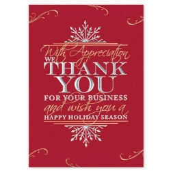 Custom Holiday Cards Red And Gold Foil Holiday Cards