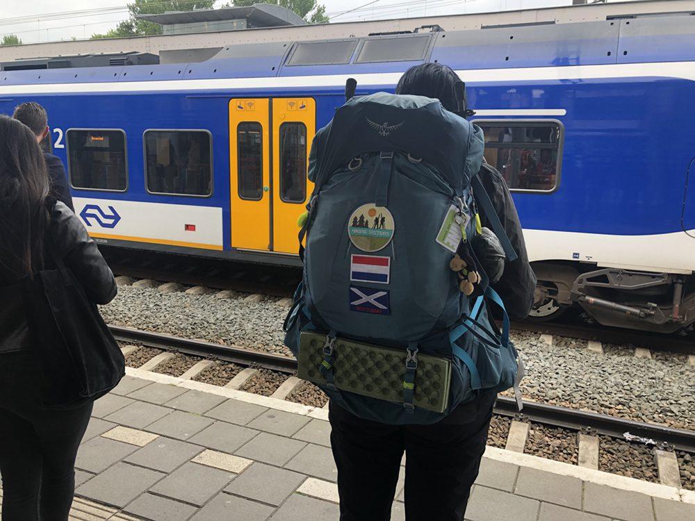 Met de trein naar Schiphol
